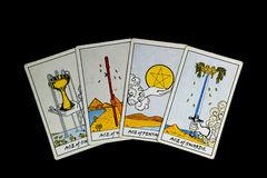 Tarot spread of four aces