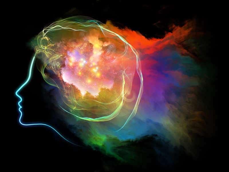 Abstract image of mind with energy colours